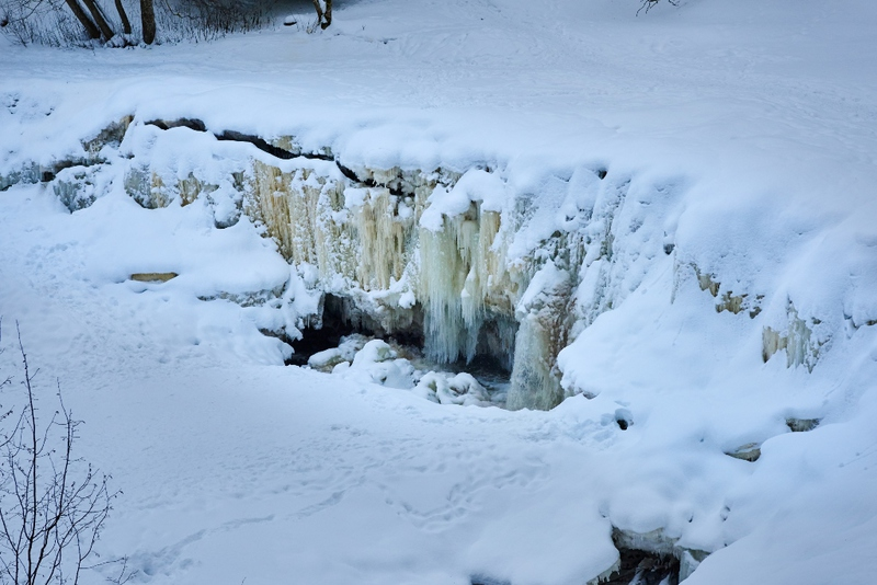 Keila waterfall in winter time