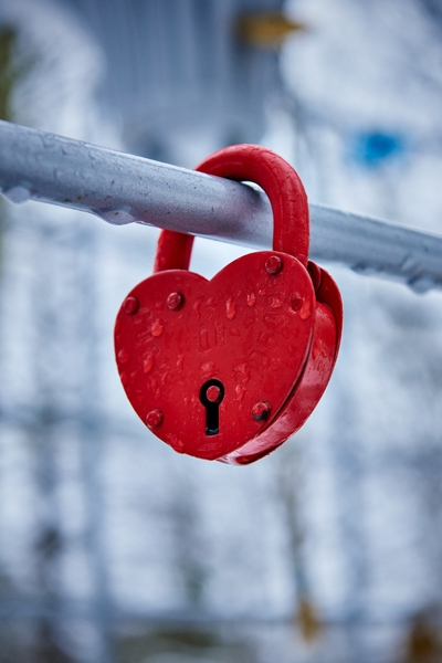 A padlock symbolizing everlasting love