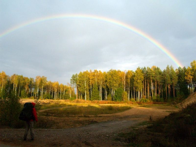 Rainbow near Kellissaare campfire site