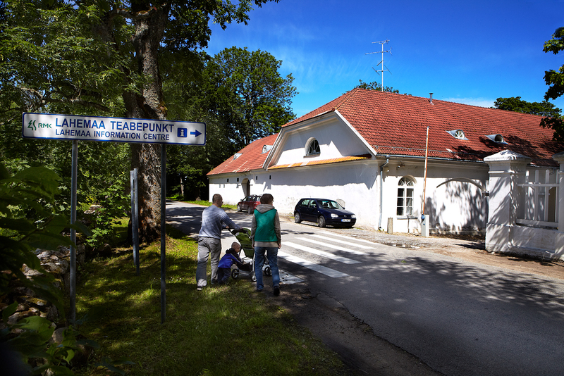 Lahemaa National Park Visitor Center is located in  the former stable and coach hall of Palmse Manor.