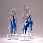 Glass trophies, H-40cm. Kalli Sein