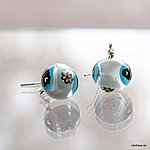 Murano glass bead earrings
