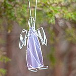 Fused glass angel. H 10-12cm. Kalli Sein