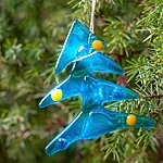 Hanging ornament christmas tree, blue