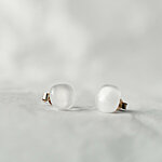 White opaque glass earrings 12 EUR