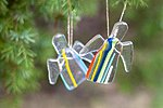 Glass angels. Christmas decorations. Kalli Sein