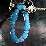 Blue Glass beaded bracelet 15 EUR