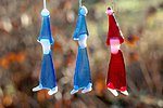 Hanging ornaments elf. Blue-red