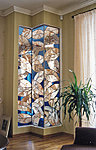 Stained glass corner, private house. Valev Sein