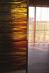 Fused glass panels, private house. Kalli and Valev Sein