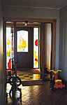 Stained glass doors, private house. Valev Sein