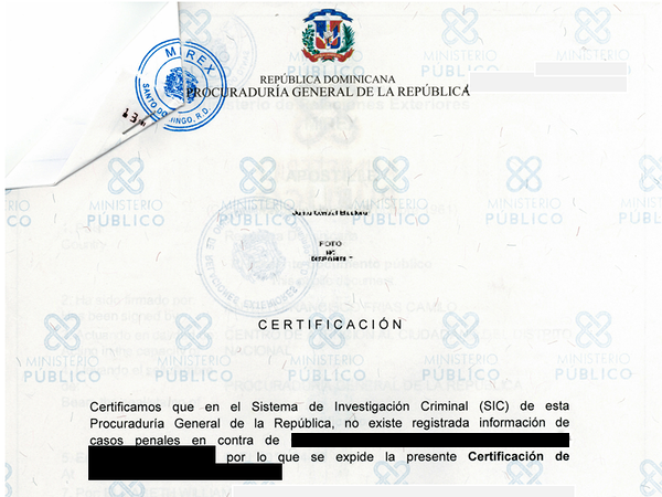 Dominican criminal background check