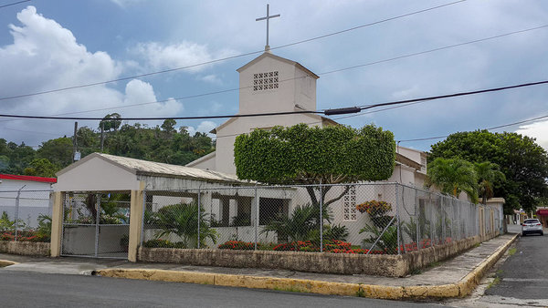 A church in the parish of Miches in the Dominican Republic