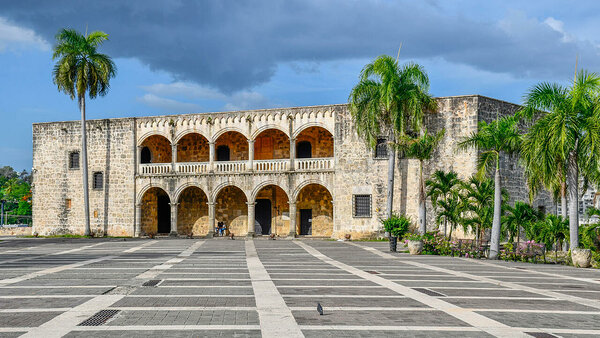 Santo Domingo's Alcázar de Colón also known as the Columbus Palace where the family of the explorer  lived. You will visit this sight on the Cocotours city tour of Santo Domingo