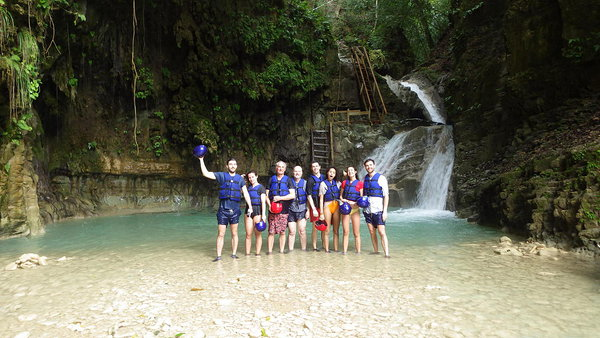 This bunch were glad at having traversed 12 of the 27 waterfalls at Damajagua