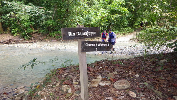 These 2 happy chaps walking back to base at the end of their visit to the 27 waterfalls of Damajagua