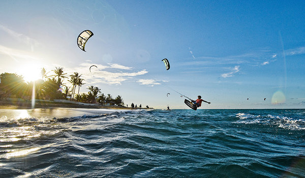 Windsurfing in Cabarete beach