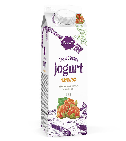 Cloudberry yoghurt, lactose free