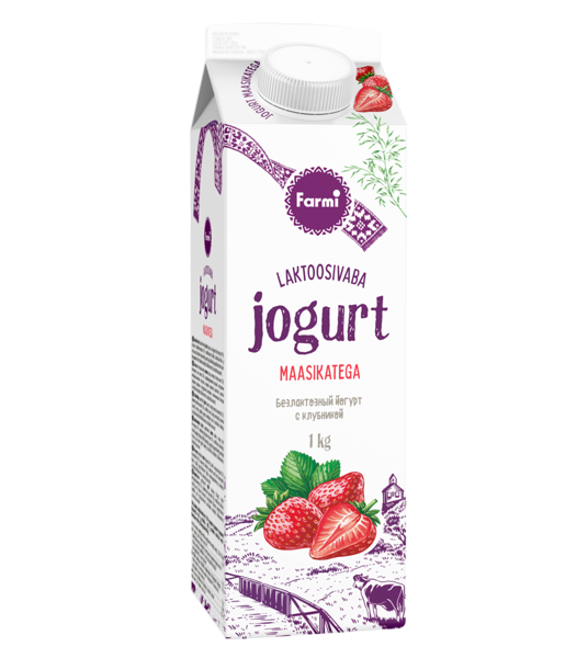 Strawberry yoghurt. Lactose free