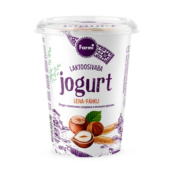 Bread yoghurt with nuts. Lactose free