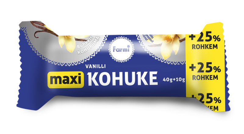 FARMI MAXI Glazed curd snack with vanilla
