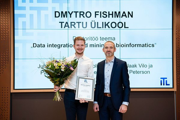Dmytro Fishman and Ivo Suursoo, the president of Estonian Association of Information Technology and Telecommunications