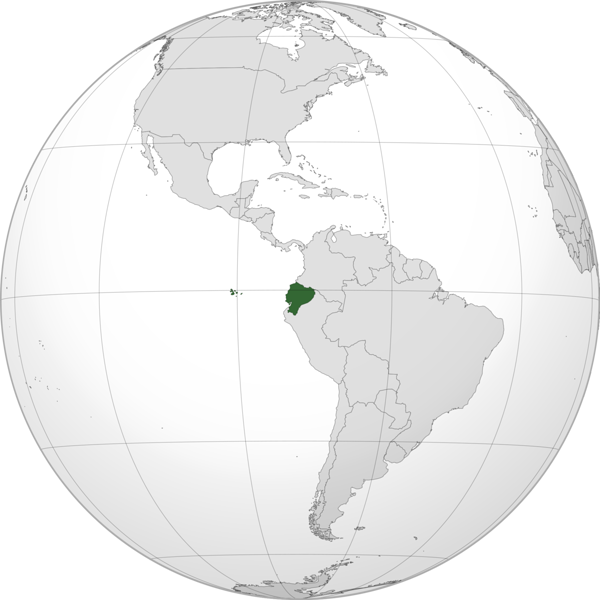 Ecuador's location (source: wikipedia)