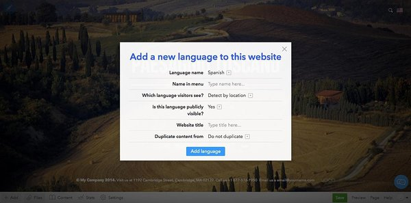 Build a multilingual website in Voog