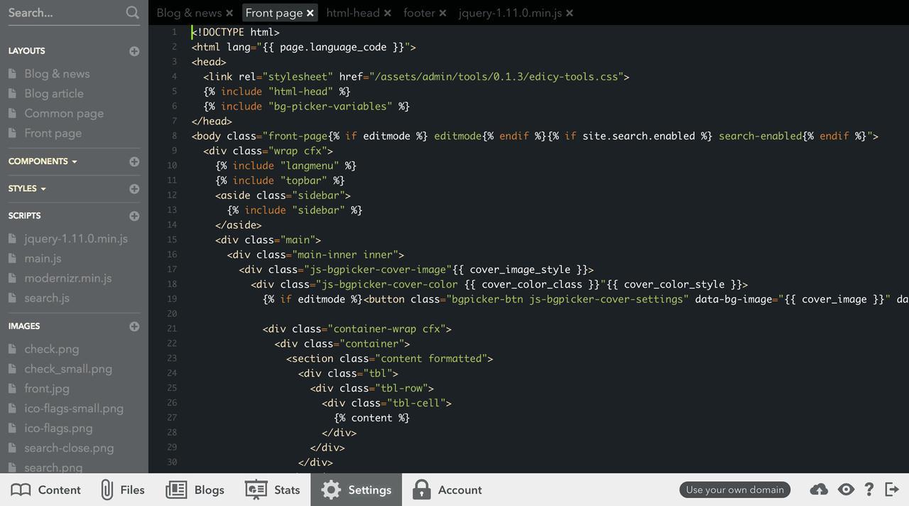 Using the Code Editor — Voog