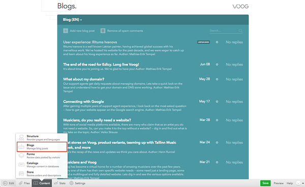 Starting your first blog with Voog – Voog  Beautiful websites that