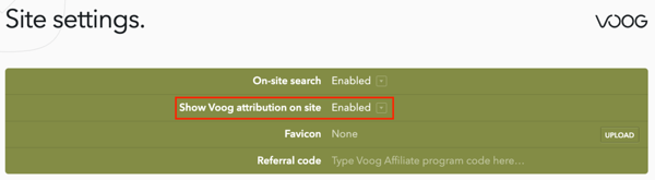 Hiding the Voog logo on your website
