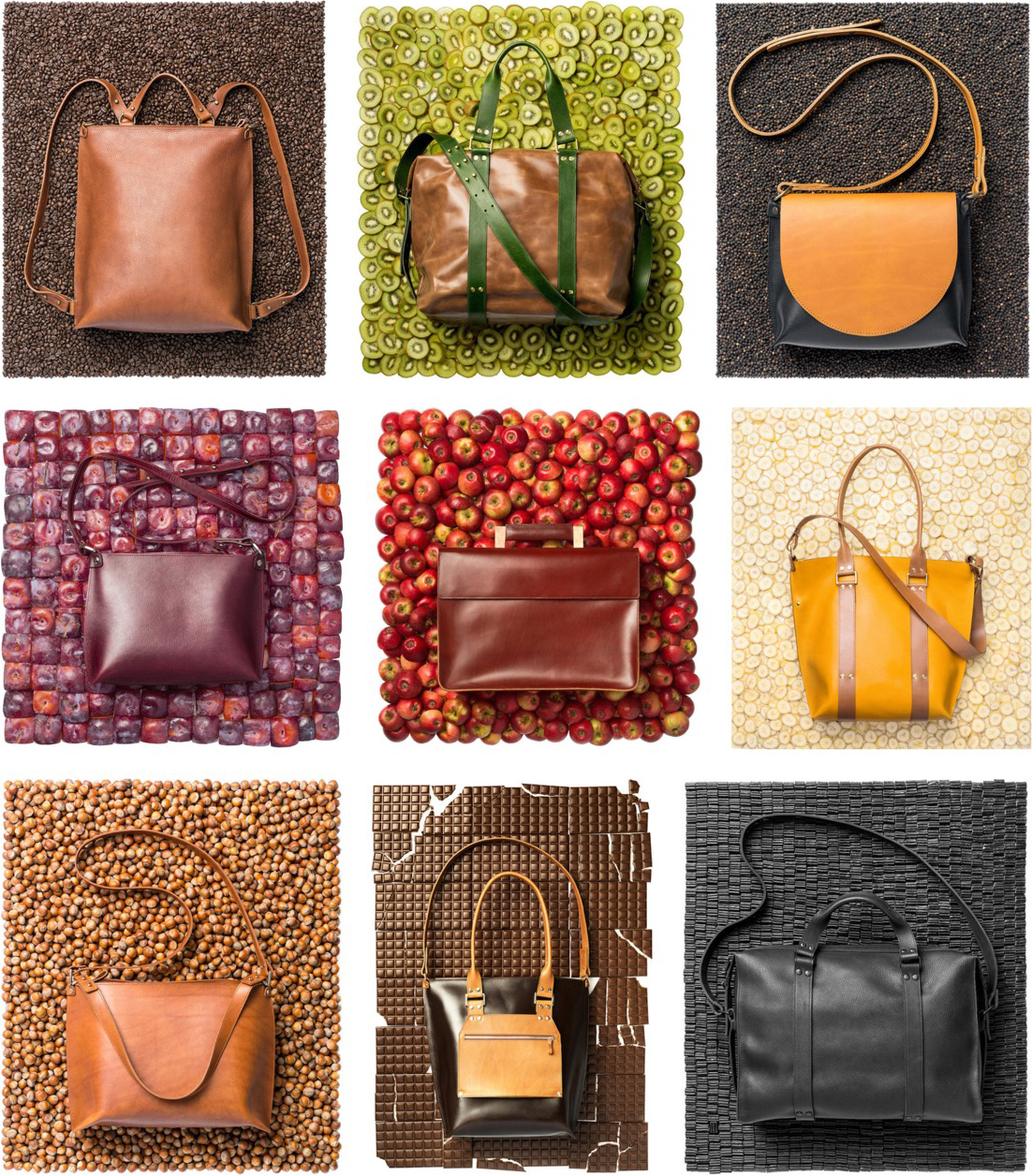 Selection of leather accessories from Stella's collection. Fragment from website. Photos: Renee Altrov