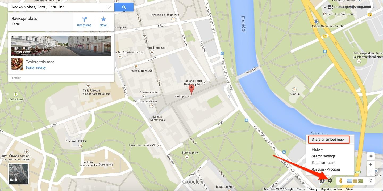 Google Maps — Voog on