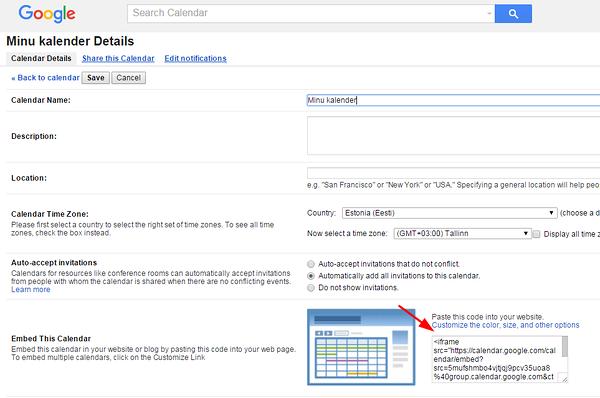 Inserting Google Calendar – Voog  Beautiful websites that