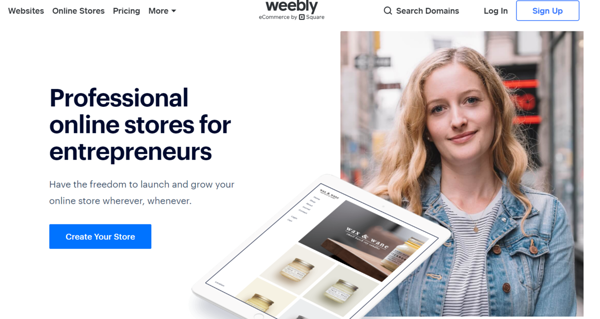 Weebly's designs look just as good on desktop or mobile browsers