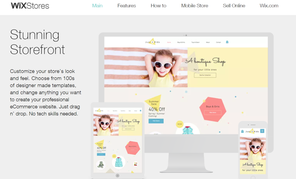 Wix offers a multitude of online store templates and options