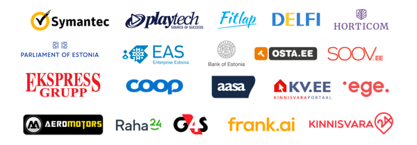 UX Estonia clients: Symantec, Playtech, Fitlap, Delfi, Horticom, Enterprise Estonia, Bank of Estonia, Coop, G4S etc