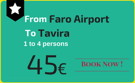 Click to book: Faro Airport - Tavira