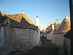 Street in historical Alberobello