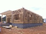 House built by Okambuva of straw bale modules