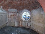 Plastering examples in a dome of bricks
