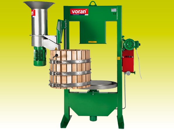 Hydraulic basket press Voran 100K with RM1.5 mill
