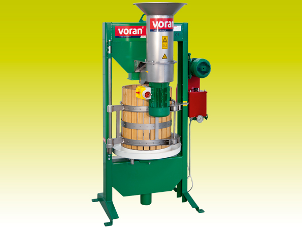 Hydraulic basket press Voran 60K with RM1.5 mill