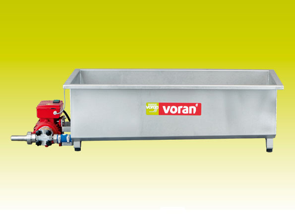 Juice collection tank with integrated pump, Voran