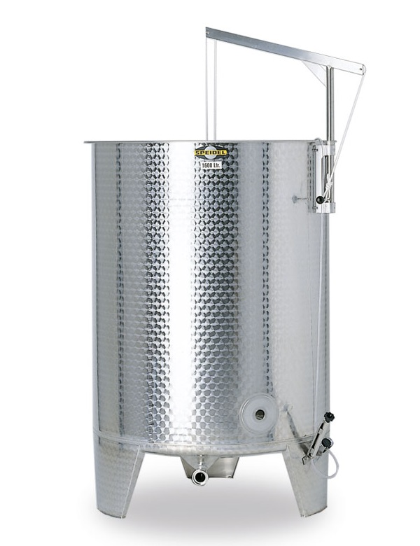 Stainless steel tank with open top, Speidel FO