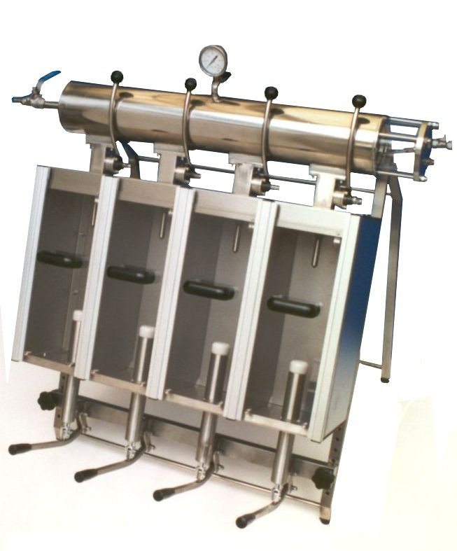 Manual isobaric filling machine (2 or 4 positions)