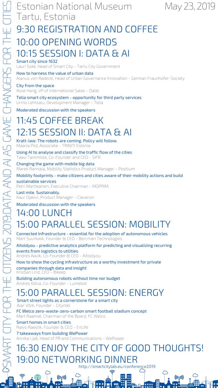Conference 2019 — Estonian Smart City Cluster