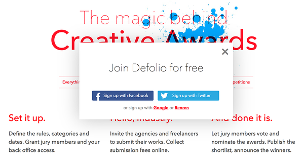 I'm taking part of a competition — Defolio