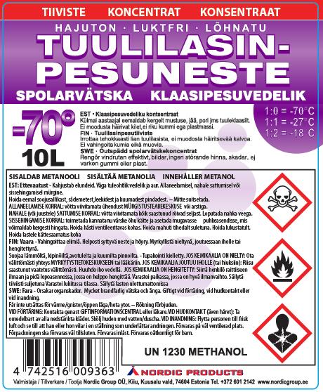 Metanoli Lasinpesuneste
