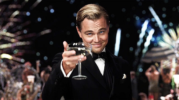 The Great Gatsby himself... and champagne